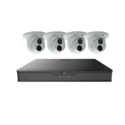 UNV NVR302 8Ch 3TB & 4 x 8MP Turret Cameras Kit